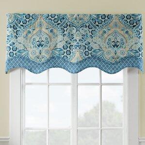 Moonlit Shadows Wave Window Curtain Valance