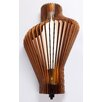 Woodbridge Lighting Canopy Escher Single Light Wood Shade Wall Sconce