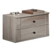 All Home Boues 2 Drawer Bedside Table (Set of 2)