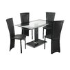All Home Lenora Dining Set with 4 Chairs
