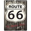 Red Hot Lemon Route 66 Wood Typography