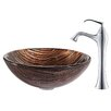 Kraus Gaia Glass Circular Vessel Bathroom Sink