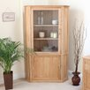 Baumhaus Mobel Oak Corner Display Cabinet