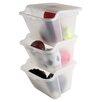 IRIS USA, Inc. Recycle Plastic Plastic Storage Totes (Set of 6)