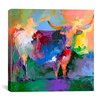 """iCanvas """"Bull"""" by Richard Wallich Painting Print on Canvas"""
