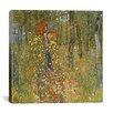 "iCanvas ""Farm Garden with Crucifix"" by Gustav Klimt Painting Print on Canvas"
