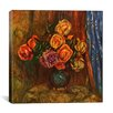 """iCanvas """"Pitcher (Vase) of Flowers"""" by Pierre-Auguste Renoir Painting Print on Canvas"""