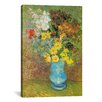 """iCanvas """"Vase with Daisies and Anemones"""" by Vincent Van Gogh Painting Print on Canvas"""