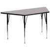 "Flash Furniture 57.5"" x 26.25"" Trapezoidal Activity Table"