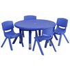 "Flash Furniture 5 Piece Circular Activity Table & 10.5"" Chair Set"