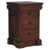 Baumhaus La Roque Mahogany 3 Drawer Bedside Table