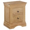 All Home Loggia 2 Drawer Bedside Table
