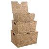 House Additions Seagrass 3 Piece Storage Basket Set