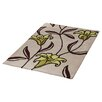 Ultimate Rug Co Floral Art Lily Taupe Area Rug