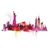 Riley Ave. New York Skyline' by Summer Thornton Art Print on Canvas