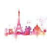 Art Group Paris Skyline Large by Summer Thornton Art Print on Canvas