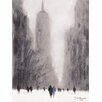 Art Group Heavy Snowfall 5th Avenue - New York by Jon Barker Canvas Wall Art