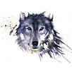 Art Group 'Snow Wolf' by Sarah Stokes Watercolour Painting Print on Canvas