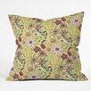 Deny Designs Pimlada Phuapradit Canary Floral Throw Pillow