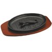 Zodiac Stainless Products Cast Iron Sizzle Platter