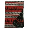 Wooded River Moose Hollow Border Throw