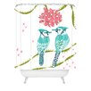 Deny Designs Betsy Olmsted Holiday Birds Shower Curtain
