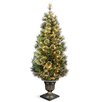 Wispy Willow 5' Green Artificial Christmas Tree with 100 Clear Lights with Urn Base