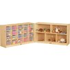 Jonti-Craft Folding 25 Compartment Shelving Unit with Casters