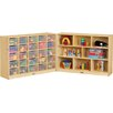 Jonti-Craft Fold-n-Lock Folding 33 Compartment Cubby with Casters