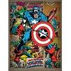Art Group Captain America Retro Canvas Wall Art