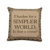 Heritage Lace Downton Abbey Simpler World Cotton Throw Pillow