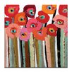 Artist Lane Stemmed Poppies Close-Up 2 by Anna Blatman Art Print Wrapped on Canvas