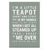Artist Lane I'm a Little Teapot by Nursery Canvas Art in Grey