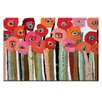 Artist Lane Brown Stemmed Poppies by Anna Blatman Art Print on Canvas