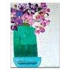 Artist Lane Green Pot With Irises by Anna Blatman Art Print on Canvas