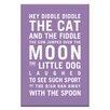Artist Lane Hey Diddle Diddle by Nursery Canvas Art in Purple
