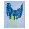 Artist Lane Mauve Bird by Anna Blatman Art Print Wrapped on Canvas