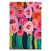 Artist Lane Pink Poppies by Anna Blatman Art Print Wrapped on Canvas