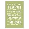 Artist Lane I'm a Little Teapot by Nursery Canvas Art in Green