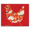 Artist Lane Red Bird by Anna Blatman Art Print Wrapped on Canvas in Red