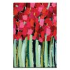 Artist Lane Fire Reds by Anna Blatman Art Print Wrapped on Canvas in Red/Green