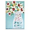 Artist Lane White Pattern by Anna Blatman Art Print Wrapped on Canvas