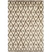Safavieh Jamila Hand-Tufted/Hand-Hooked Ivory/Chocolate Indoor/Outdoor Area Rug