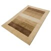 Parwis Indo Gabbeth Aria Hand-Knotted Brown Area Rug