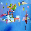 Art Excuse Big Blue Bird' by AX Painting on Wrapped Canvas