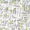 """9 Selvas De Mariscal Ciutat 33' x 21"""" Abstract Wallpaper"""
