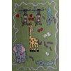Rug Factory Plus Zoomania Happy Life Green Children's Area Rug