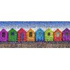 RareArtStudios Beach Huts Rectangular Mosaic Limited Edition Graphic Art on Canvas