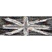 RareArtStudios Union Jack Splat Monochrome Rectangular Mosaic Limited Edition Framed Graphic Art