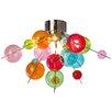 Naeve Leuchten 6 Light Glass Ball Semi Flush Ceiling Light